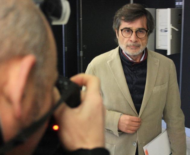 Carlos González antes de comparecer en aquella rueda de prensa del 10 de enero de 2018 en la que anunciaba que no vendería a Jesús León, aunque 9 días después lo hizo oficialmente