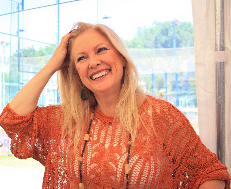 Cristina Pedradas durante la entrevista
