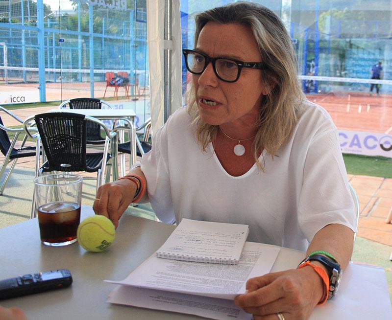 Isabel Albás en un momento de la entrevista