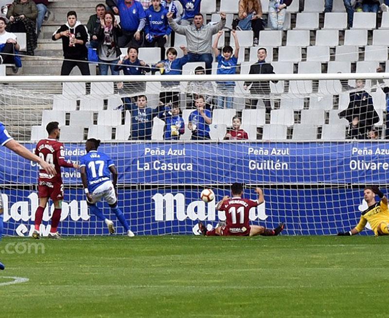 La acción del 1-0 del Oviedo ayer