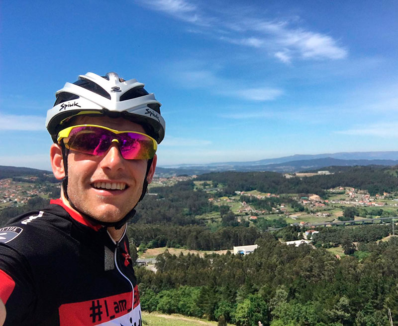 Camilo Puertas tras su jornada de entrenamientos previa al Mundial de Pontevedra