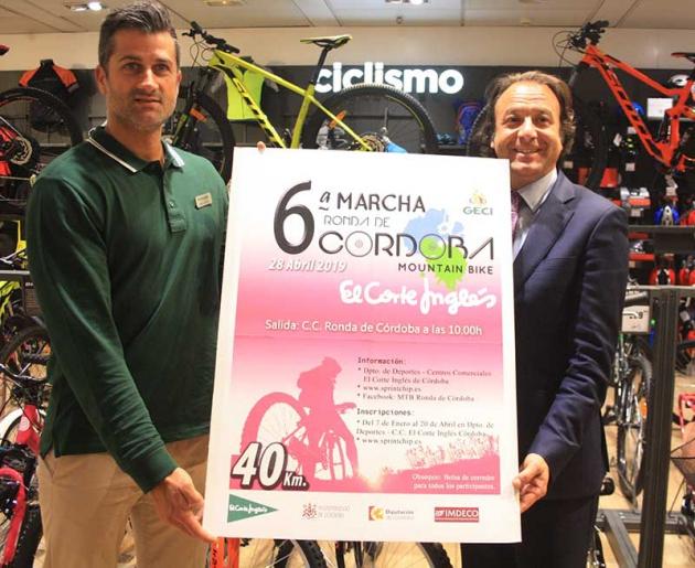 Daniel García Ibarrola y Pepe Cuesta presentando el cartel de la VI Marcha Ronda de Córdoba