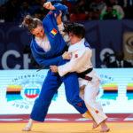 Julia Figueroa en acción ante la rumana Ungureanu en la final del Gran Prix de Marrakech en la que logró el oro