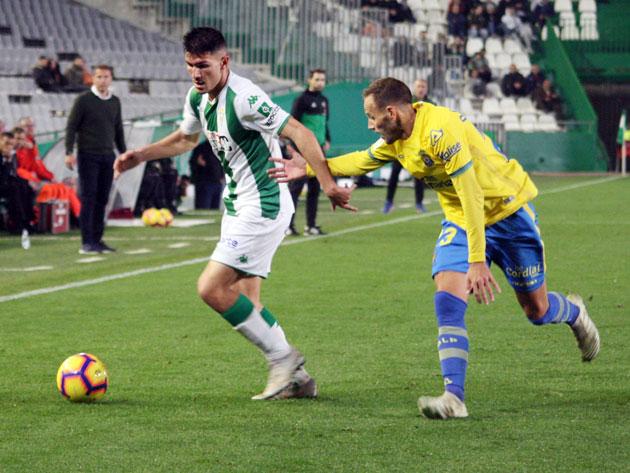 Miguel Loureiro en el partido ante Las Palmas de la primera vuelta