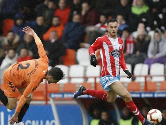El Lugo en su duelo frente a Osasuna. Foto: Marca.com