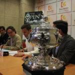 La Copa Albolafia 2019 con Martín Torralbo, Antonio Rojas y Manel Villagrán al fondo durante su presentación