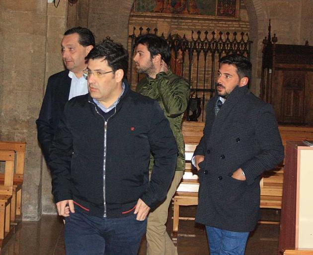 Alfredo García Amado, Jesús León, Juan Ramón Berdugo y Antonio Viola en la misa homenaje a Litri