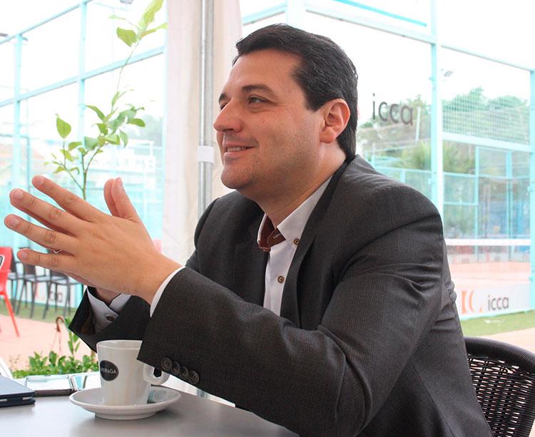 José María Bellido durante la entrevista en el Vial Padel hace una semana.