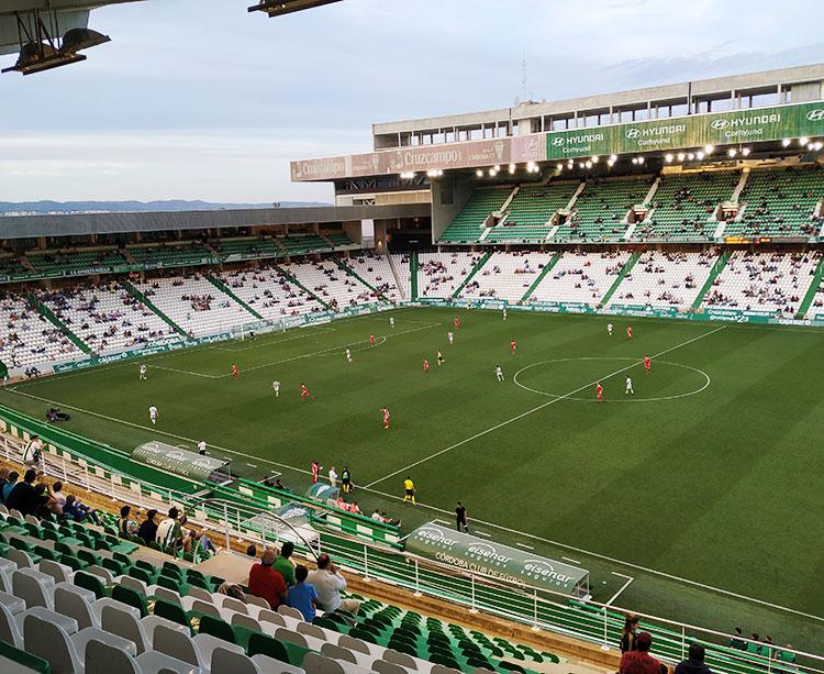 Vista de El Arcángel en el penúltimo partido ante el Nástic cuando se registró la peor entrada de los últimos 8 años sin llegar a los 3.000 espectadores