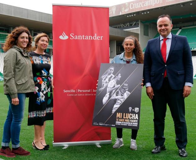 La presentación del partido en El Arcángel del Córdoba CF Femenino