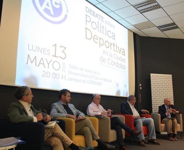 Los representantes de PP, Ciudadanos, IU y PSOE debatieron en Loyola sobre política deportiva