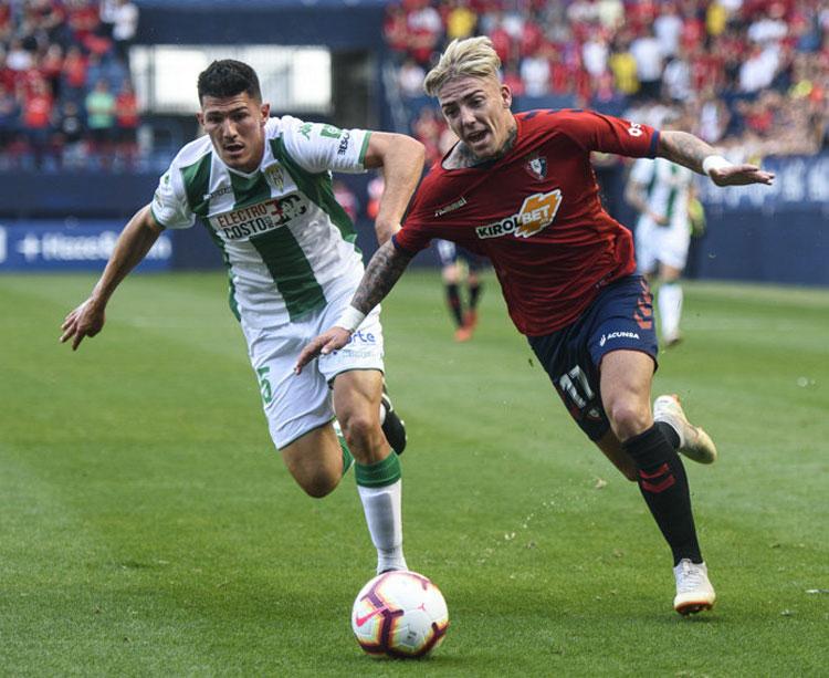 Una imagen del partido de ida entre Osasuna y Córdoba