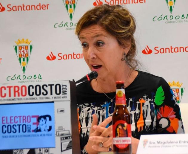 Magdalena Entrenas esta mañana en la sala de prensa de El Arcángel