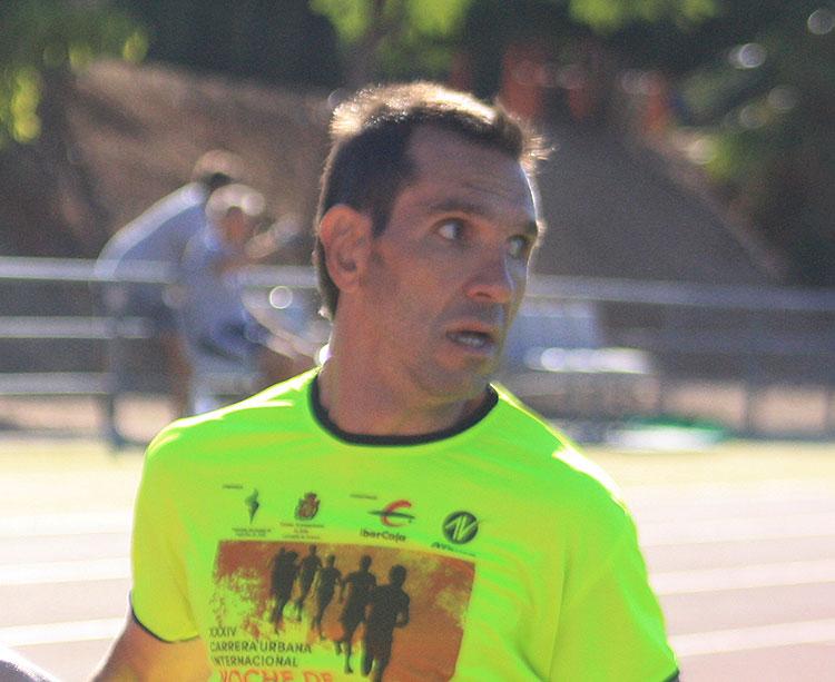 Manuel Garnica entrenando en El Fontanar