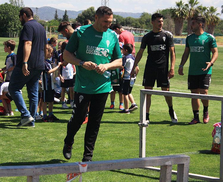 Rafa Navarro al término del entrenamiento