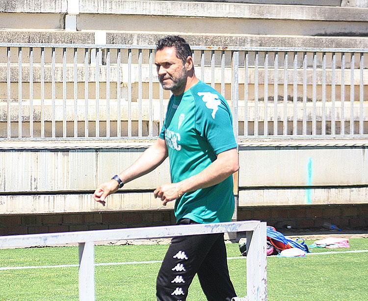 Rafa Navarro a la conclusión de un entrenamiento