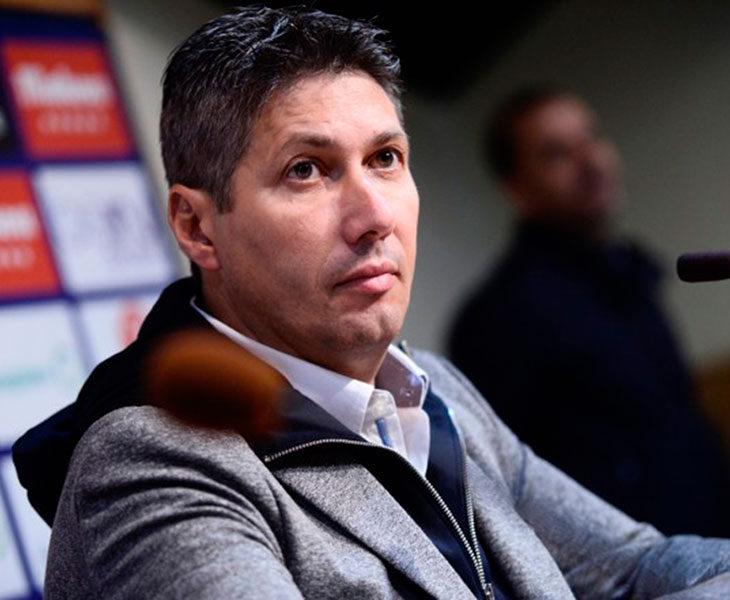 Alfonso Serrano en una comparecencia con el CD Tenerife