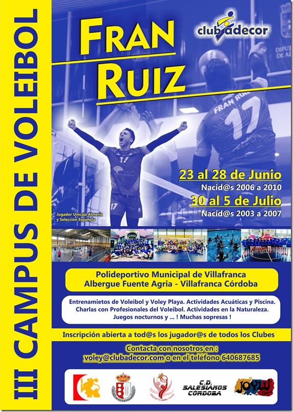 El cartel de la III edición del Campus Fran Ruiz