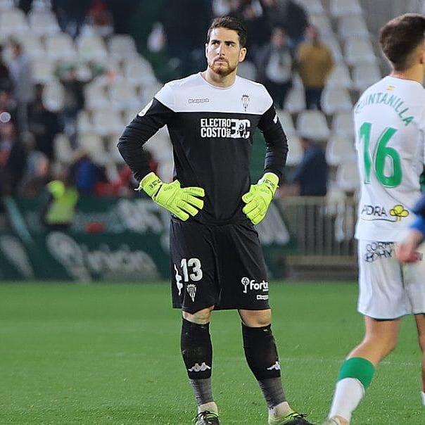 Carlos Abad en su último partido en El Arcángel ante Osasuna