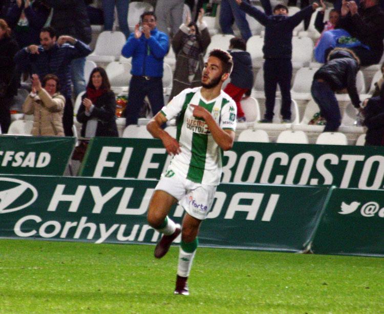 Andrés Martín celebrando un gol esta temporada