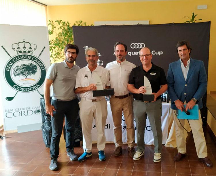 Bartolomé Abad y Rafael Perales ,junto a José Luis Castillo y Manuel Villagrán, representarán al Real Club de Campo en la final nacional del Audi Quattro Cup