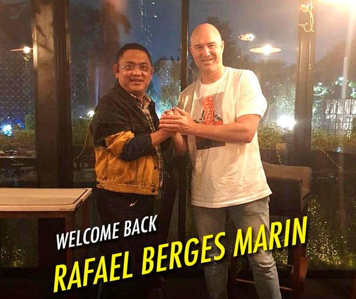 Rafa Berges de vuelva a Indonesia junto al presidente del Mitra Kukar