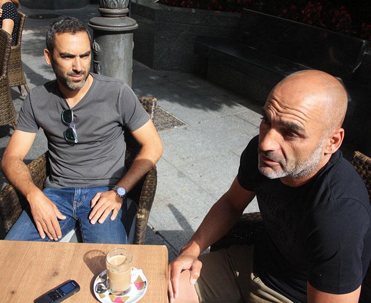 Alfonso Espejo y Rafa Clavero en un momento de la entrevista