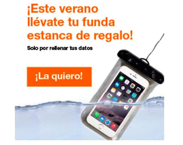 La funda estanca que te regala Ofertel Orange sólo por dar tu contacto pinchando en el link