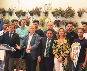José García Román junto a Javier Imbroda el día de la recepción de la Junta