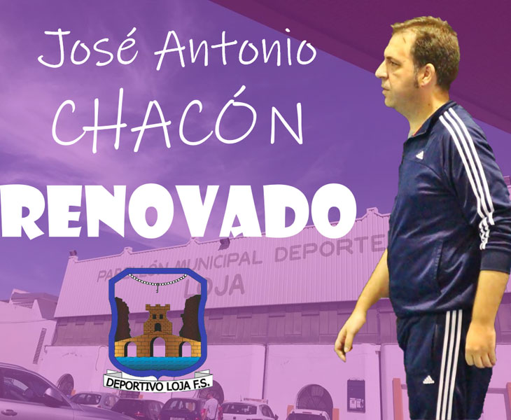 La imagen del anuncio de la renovación de Chacón en Loja