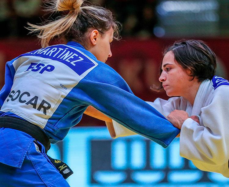 Julia Figueroa ante Laura Martínez en la final del Grand Slam de Bakú