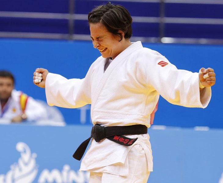Entre el llanto y la alegría. Julia Figueroa tras ganar el bronce en Minsk