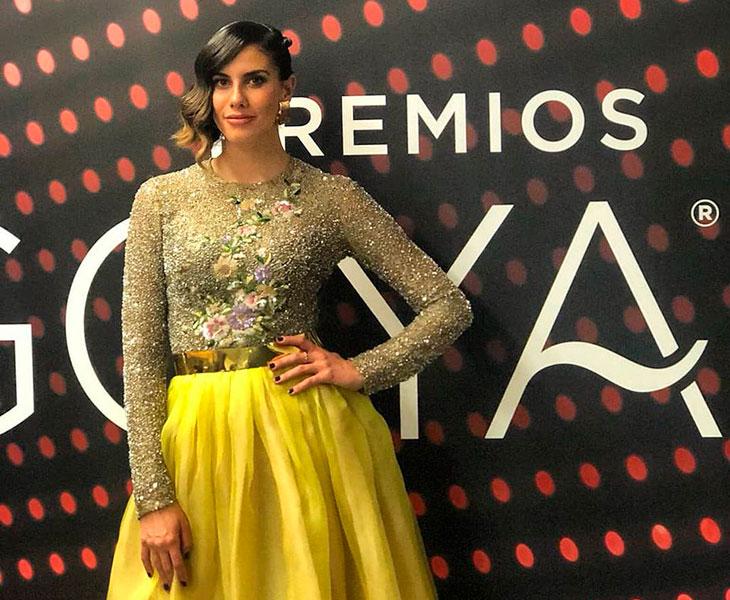 Lourdes Mohedano en los pasado Premios Goya