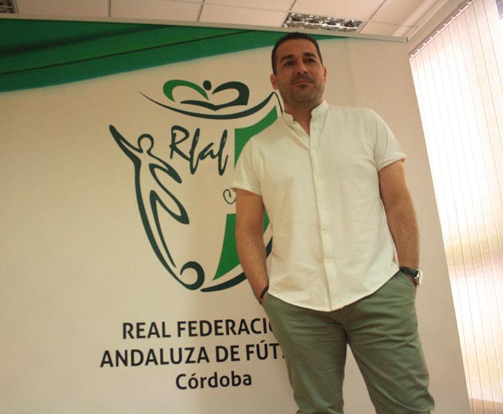 Pablo Lozano en un momento de la entrevista con Cordobadeporte.com