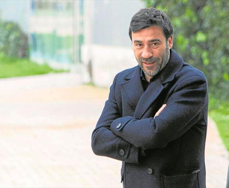 Raúl Agné durante la entrevista en el Periódico de Aragón el pasado mes de marzo