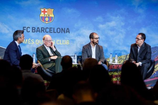 Conferencia con varios integrantes de la Fundació Barça