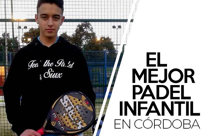 El cartel del Campeonato de España de Menores de pádel