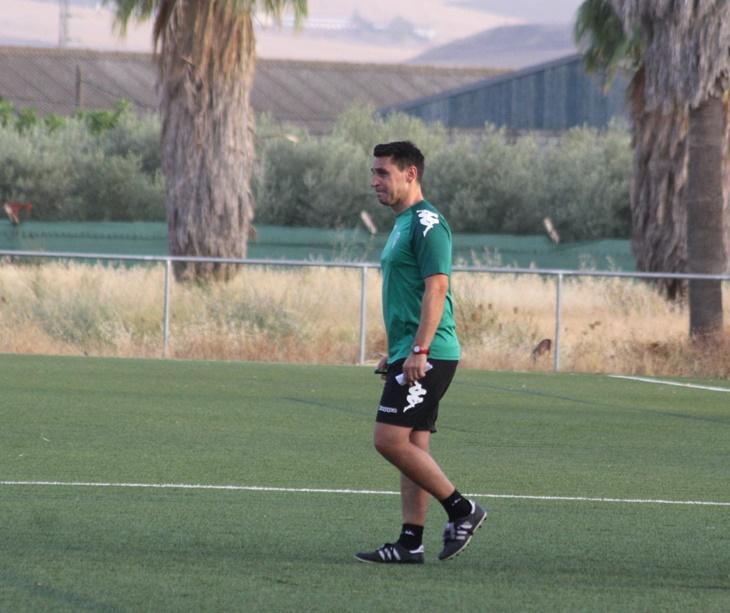Diego Delgado en una sesión de entrenamiento del filial. Autor: Paco Jiménez