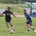 Chus Herrero y Luis Muñoz en un entrenamiento