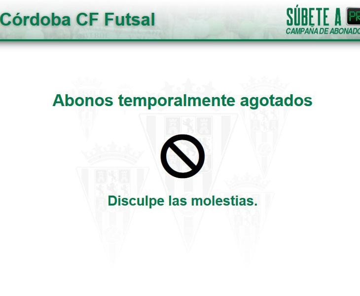 El cartel que ha tenido que preparar el club en su web ante la brutal demanda