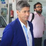 Alfonso Serrano este mediodía en el concesionario Corhyund de Córdoba