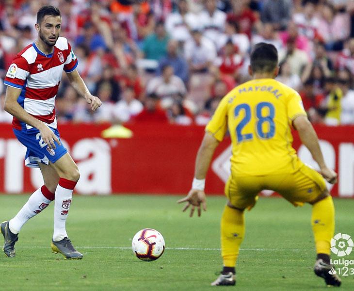 José Antonio González en el último partido del Granada en Segunda, ante el Alcorcón