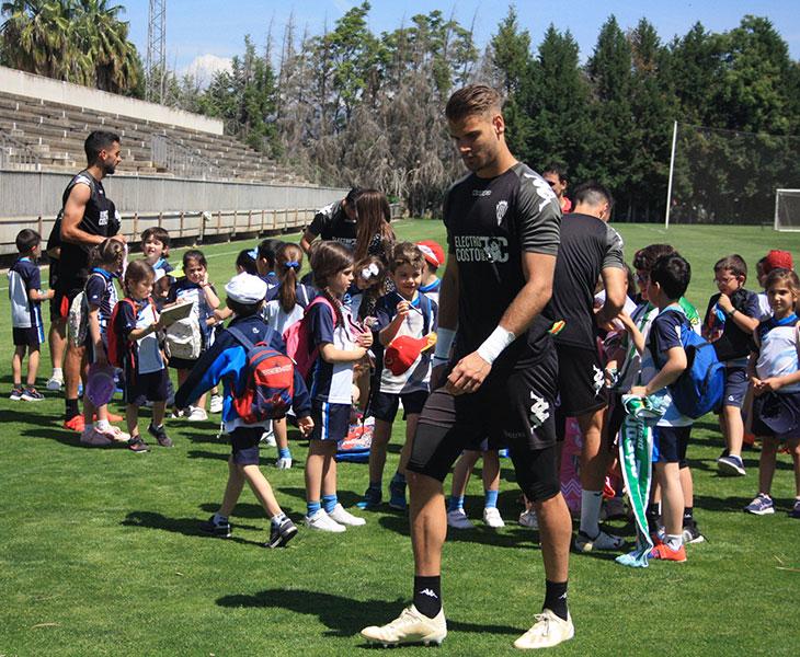 Marcos Lavín en uno de los últimos entrenamientos de la temporada