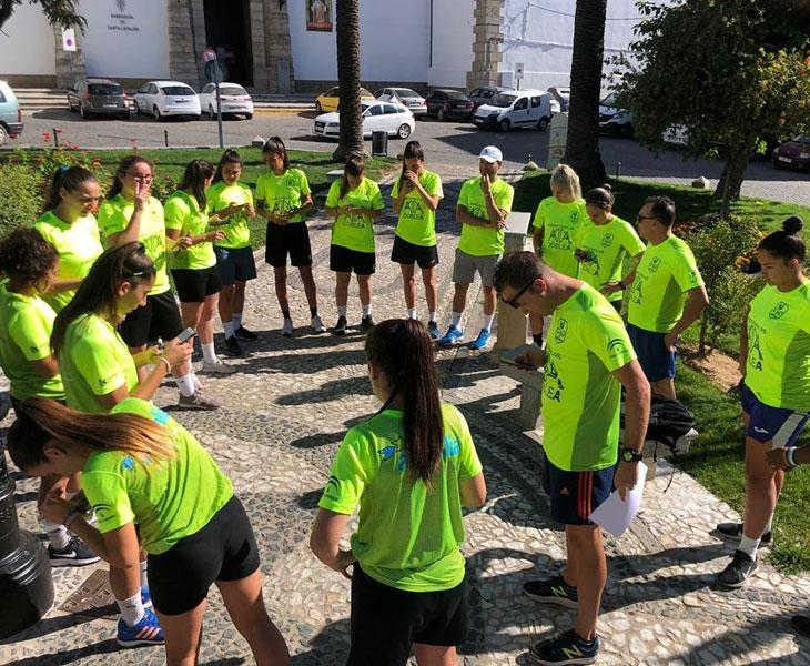Las chicas del Pozoalbense ya en plena acción