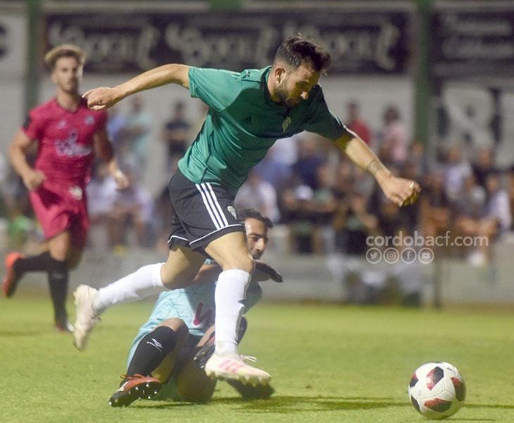 Sebas Moyano en la jugada del gol