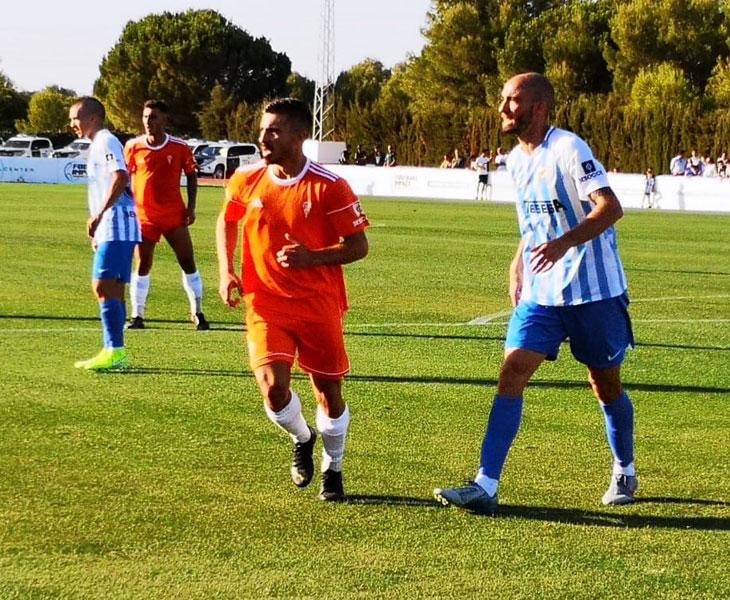 Zelu en el partido de ayer ante el Málaga