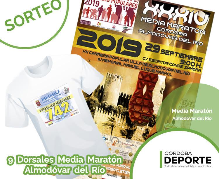 Atentos a nuestras redes sociales porque vamos a sortear 9 dorsales para la Media Maratón Córdoba - Almodóvar del Río