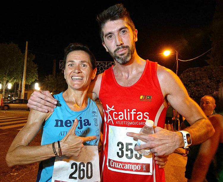 Lola Chiclana y Juan Bautista Expósito, ganadores en la noctuna villarrense. Foto: @villadelrioayto