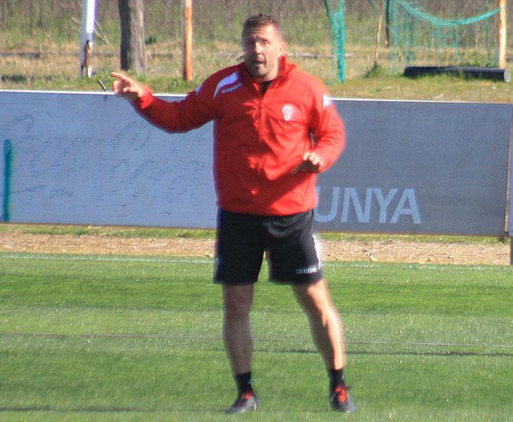 Curro Torres en uno de sus últimos entrenamientos en febrero