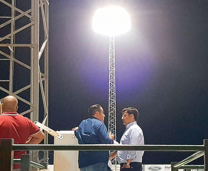 Jesús León departiendo con Sandoval hace dos semanas en Pozoblanco